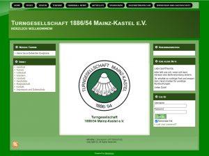 Überarbeitete Homepage des Vereins