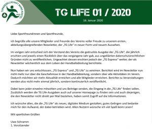 """""""TG Life"""" wird digital"""